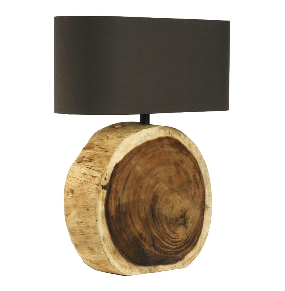 Mandara natural wood plank circle table lamp kathy kuo home for Lamp wooden