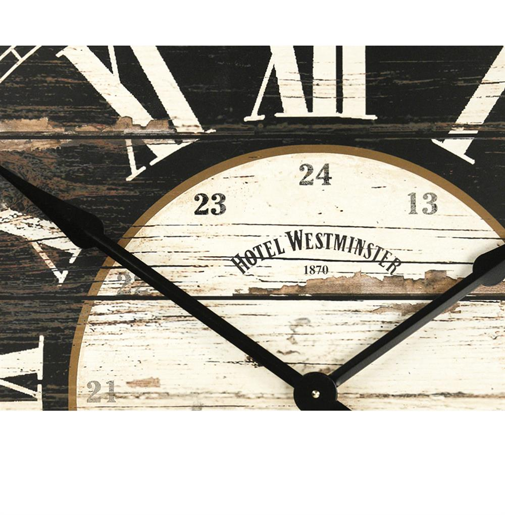 Hotel westminster rustic cottage black white large wall clock black white large wall clock kathy kuo home view full size amipublicfo Gallery