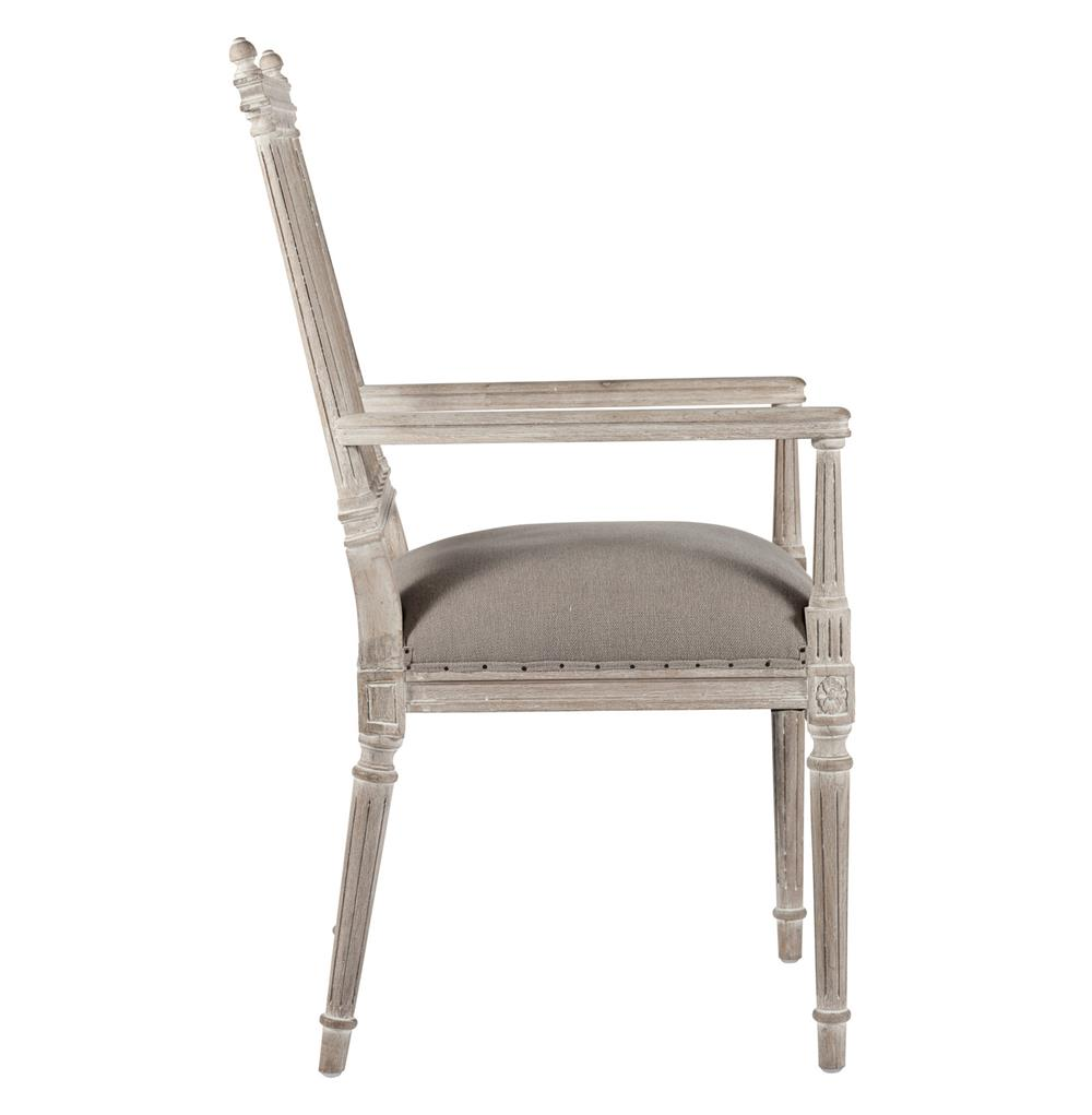 Coyle Shabby French Antique White Dining Arm Chair
