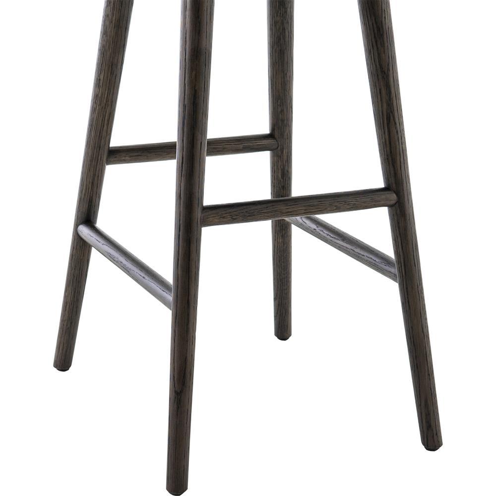 Shiela Modern Beige Canvas Upholstered Seat Black Wood Leg