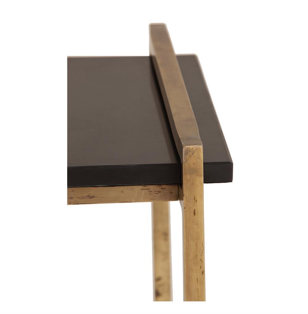hollis modern black marble iron rectangular side table  kathy kuo  - hollis modern black marble iron rectangular side table  kathy kuo home ·view full size