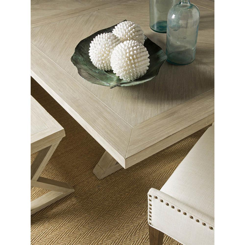 White Wash Wood Dining Table: Artistica Ringo Modern Whitewash Wood Extendable Farmhouse