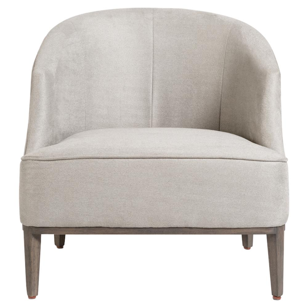 James modern classic grey upholstered tub style living - Modern upholstered living room chairs ...