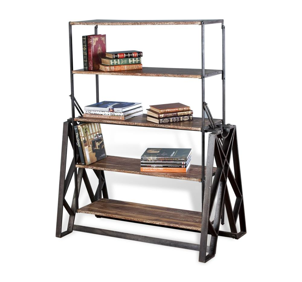 Prasat Industrial Loft Convertible Dining Table Bookshelf  : product4391 from www.kathykuohome.com size 1000 x 933 jpeg 79kB