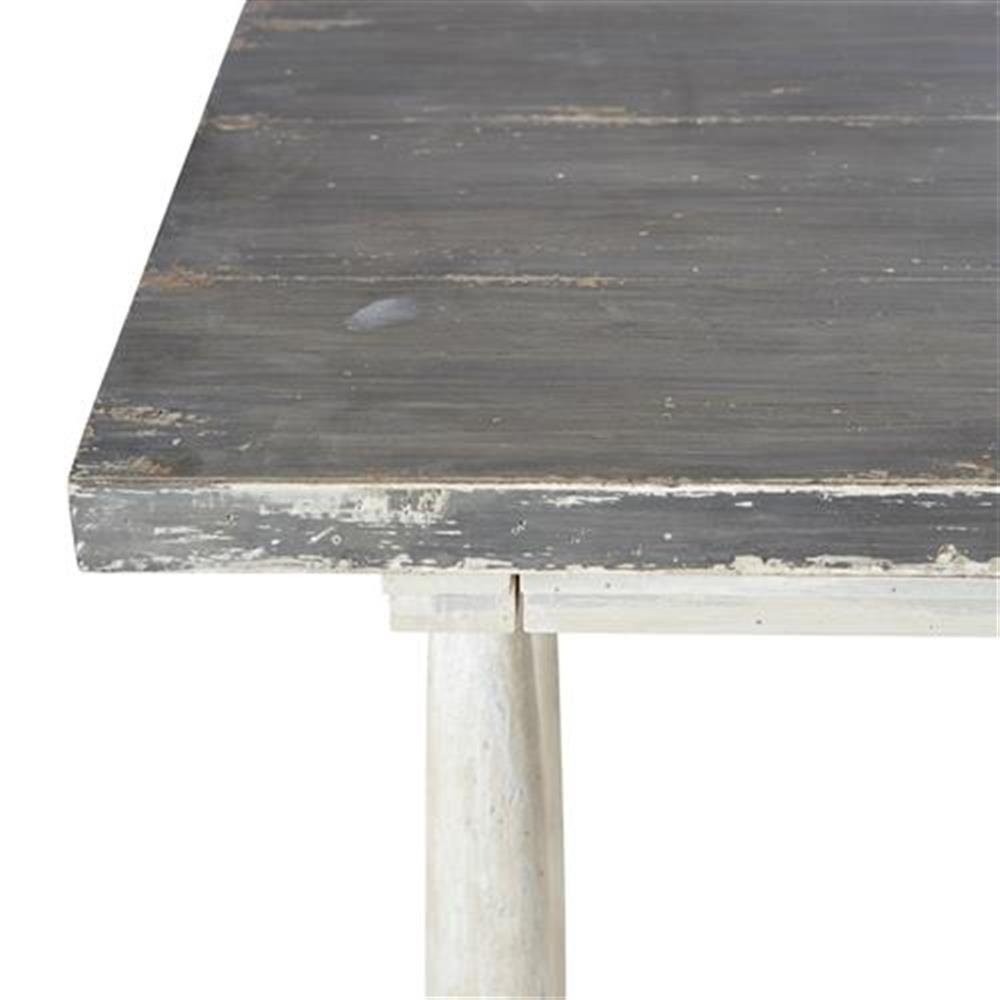 Jonah French Country Distressed Grey And White Wooden