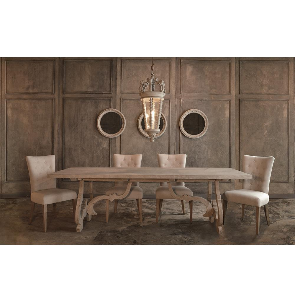 ... Burgundy French Country Reclaimed Pine Rectangular Dining Table | Kathy  Kuo Home