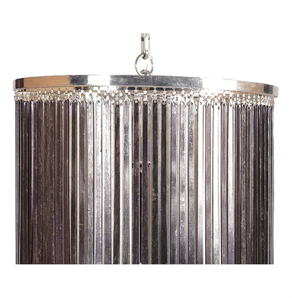 Susana Silver Black Glam Hanging Rod Pendant Chandelier