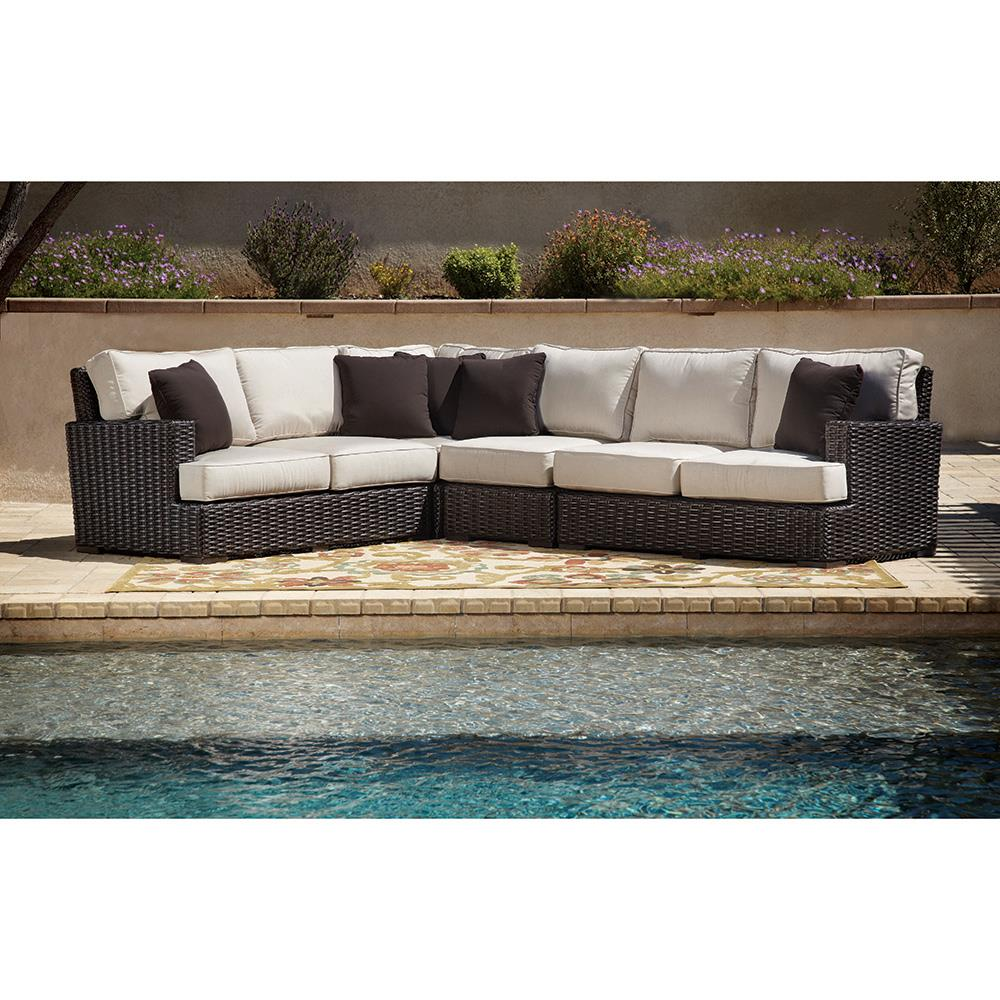 ... Dark Brown Wicker Outdoor Sectional | Kathy Kuo Home. View Full Size ...