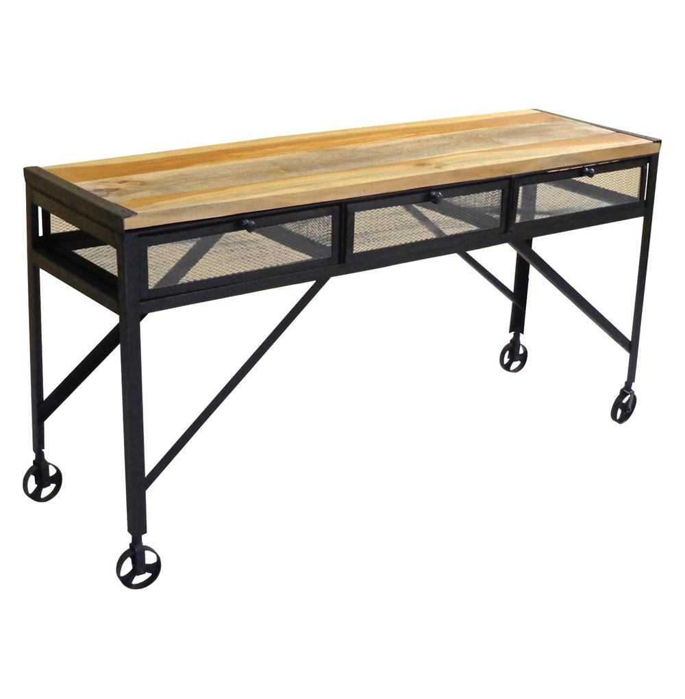 Tribeca Industrial Mesh Drawer Caster Wheel Desk Console