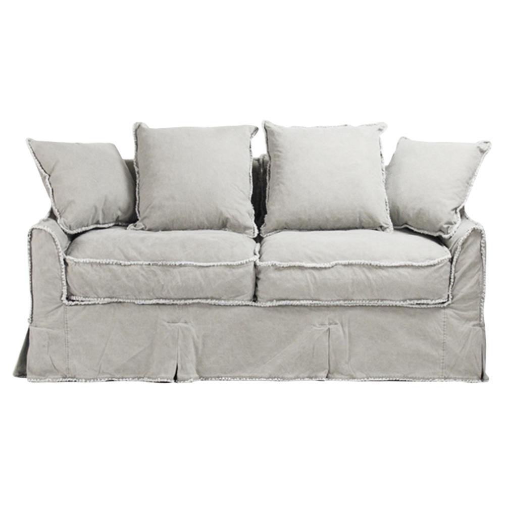Kelvin Stonewash Canvas Fog Cottage Style 2 5 Seat Loveseat
