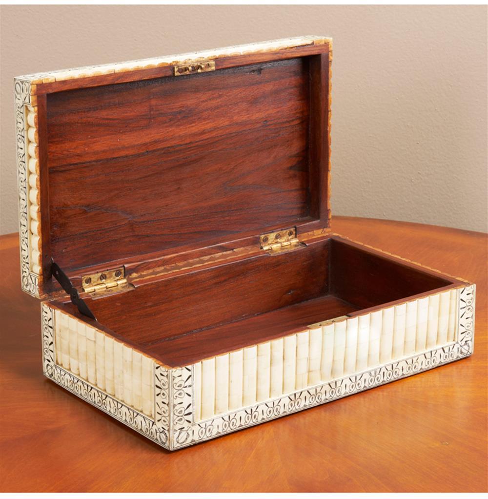 Micina Wood Bone Global Bazaar Decorative Jewelry Box Kathy Kuo Home