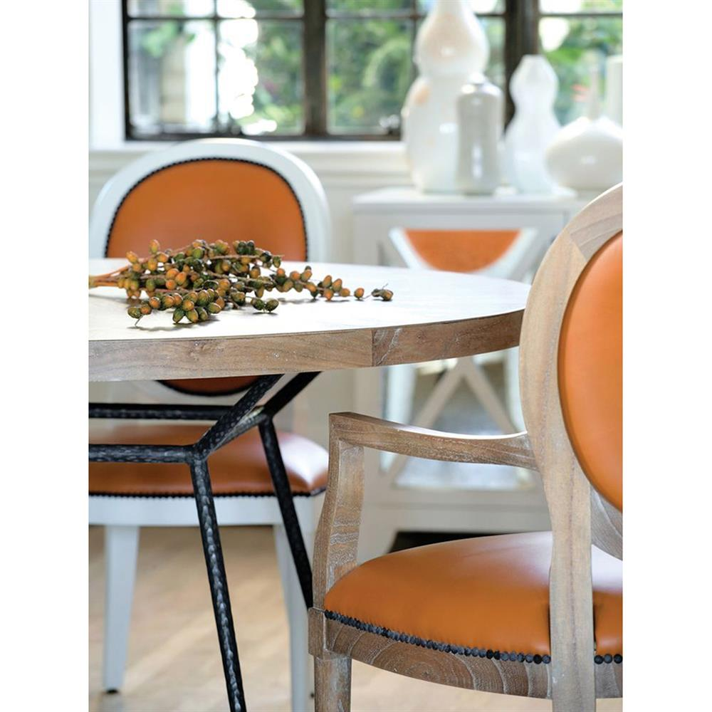 Oly Studio Frank Industrial Loft Wood Round Dining Table