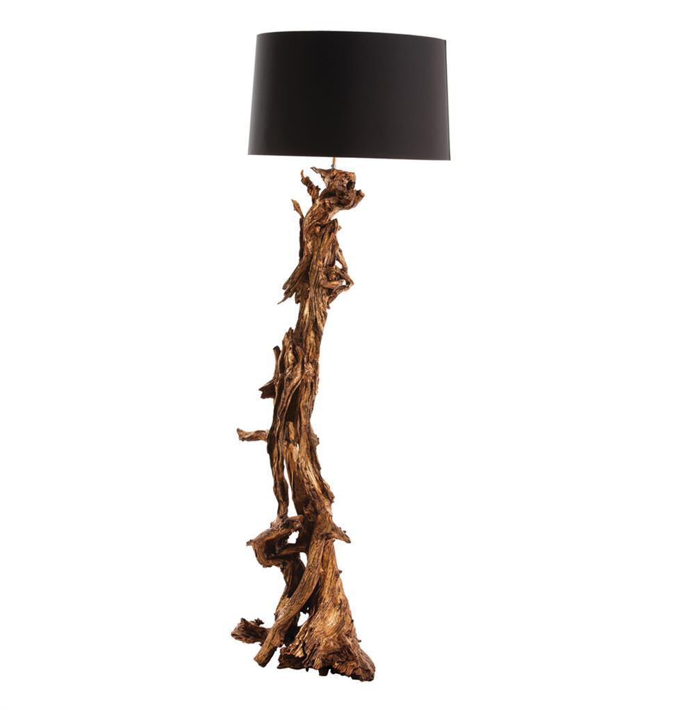 Ashland Gold Leaf Dragon Mangrove Global Tree Root Floor Lamp