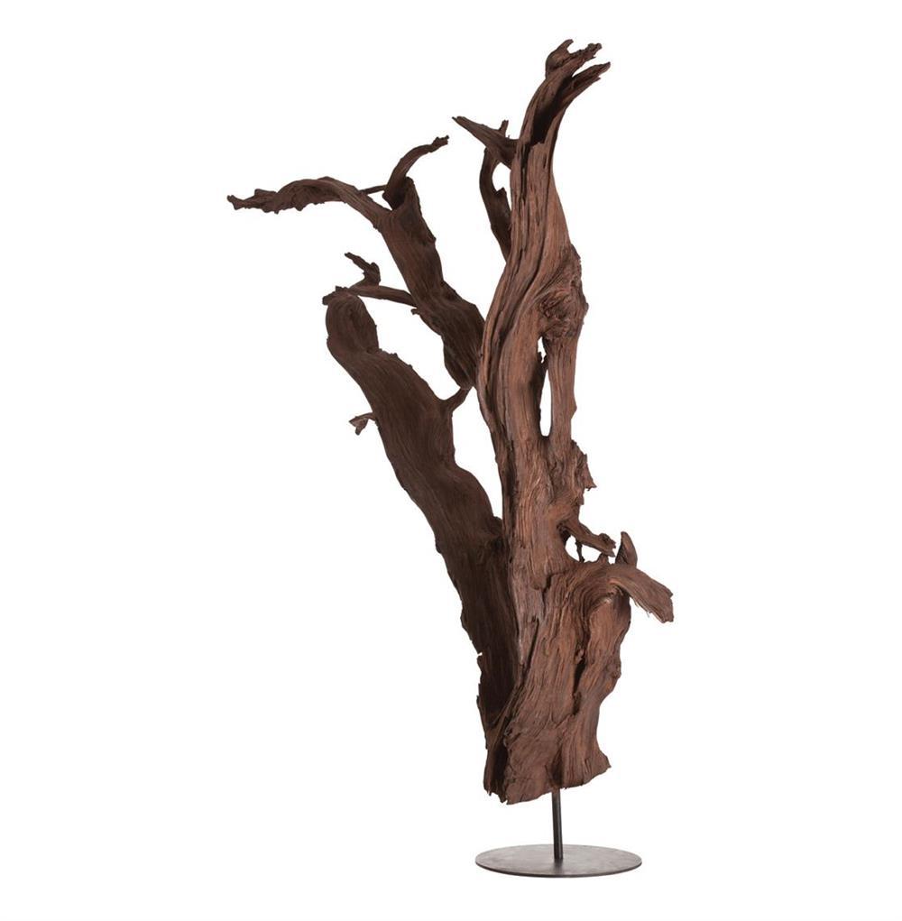 Attractive Kazu Root Mangrove Tree Iron Floor Sculpture | Kathy Kuo Home RV18