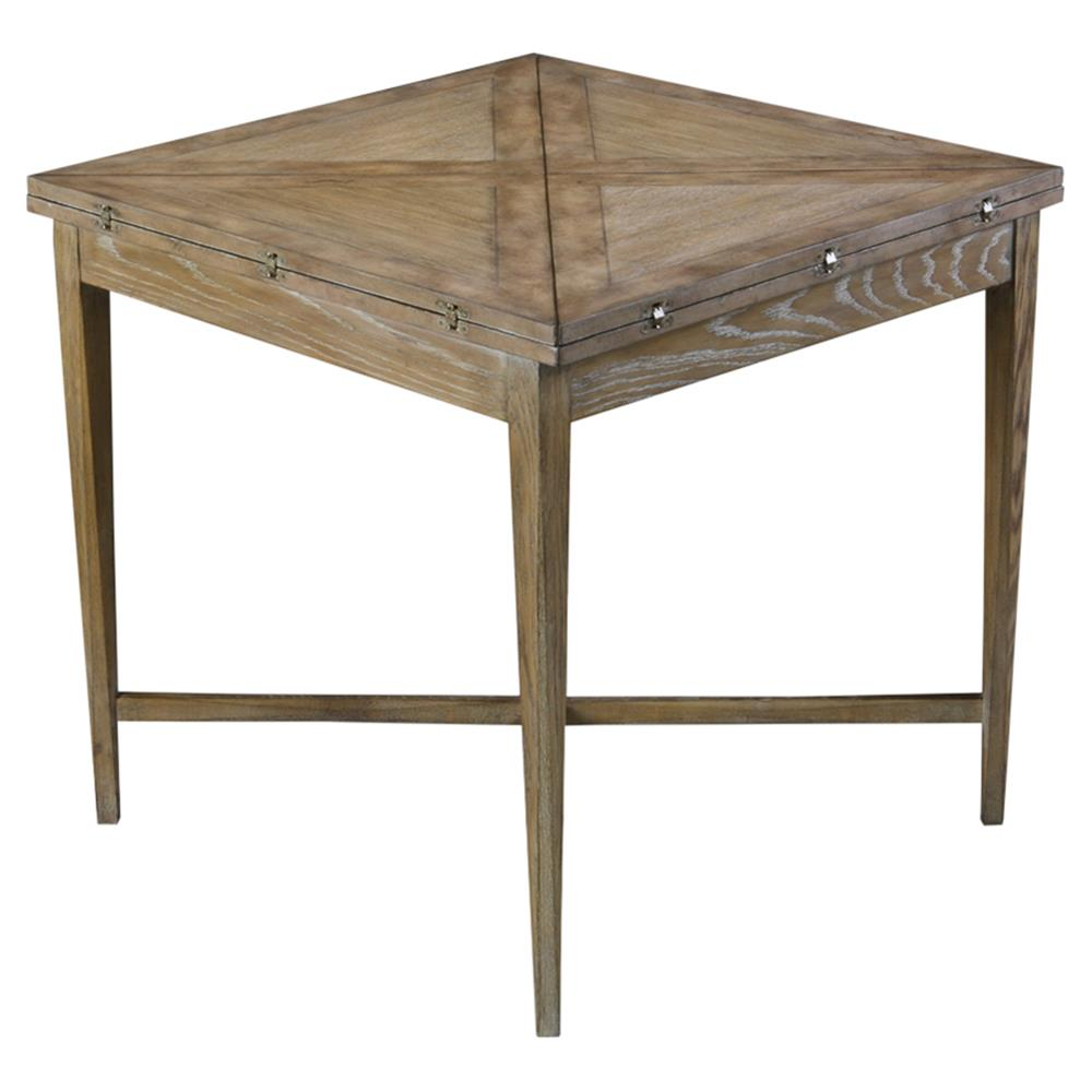 Anton Rustic Lodge Weathered Grey Extendable Square Coffee Table