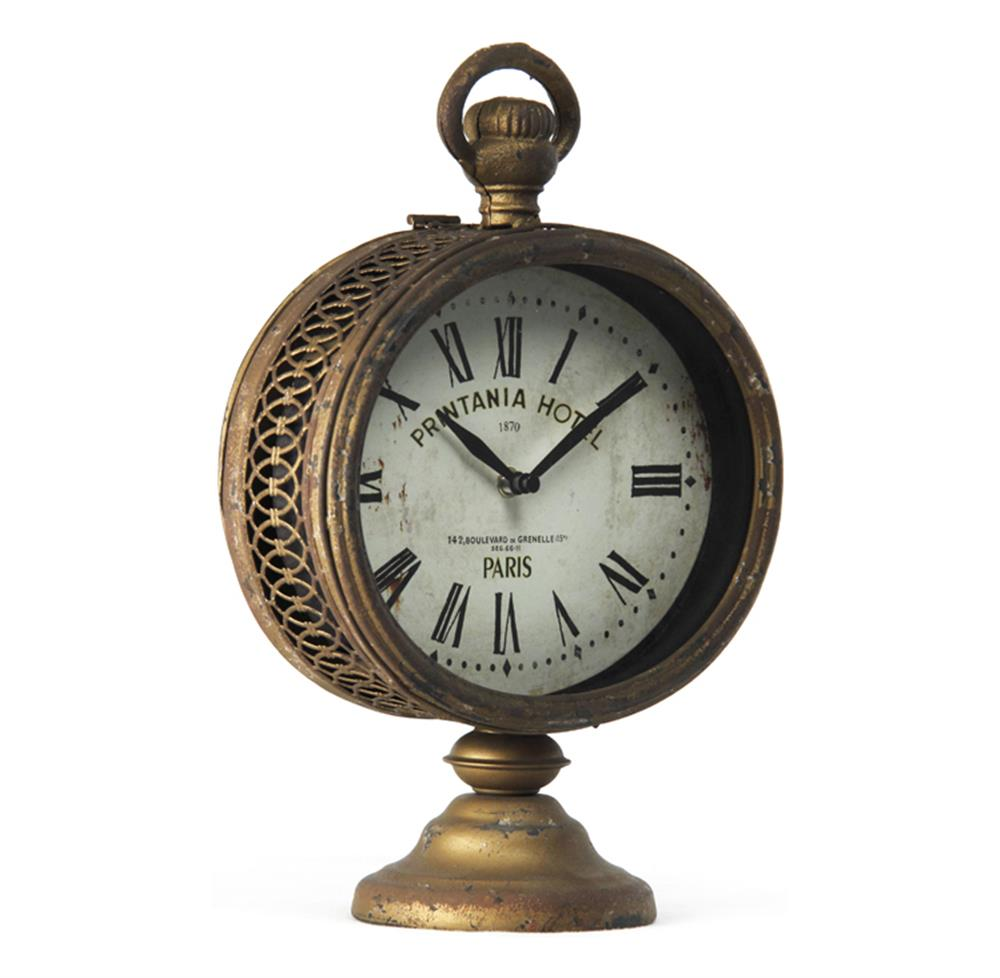 Printania Hotel Paris French Country Antique Brass Table Clock ...