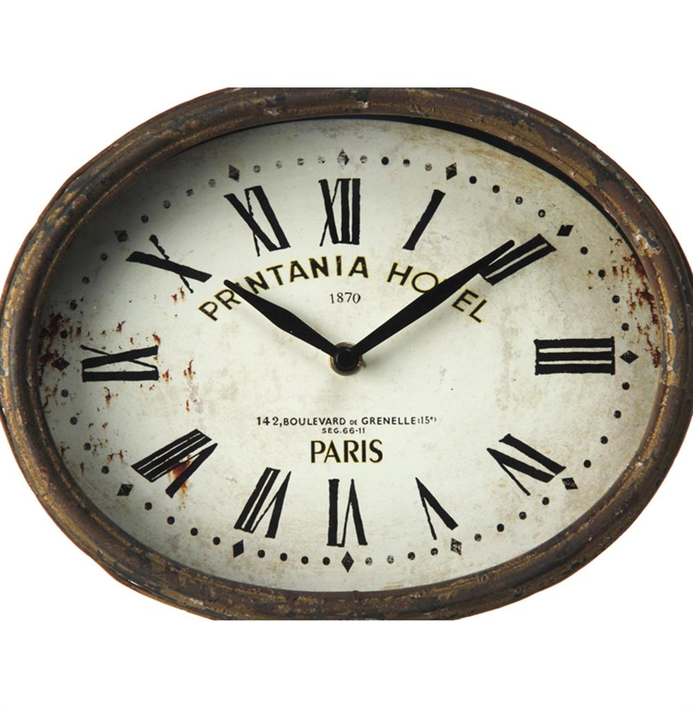 ... Printania Hotel Paris French Country Antique Brass Table Clock | Kathy  Kuo Home
