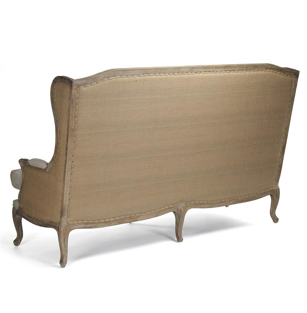 Chairs Fresh Dining Settee Bench With Extraordinary: French Country Leon High Back Linen Sofa Dining Bench