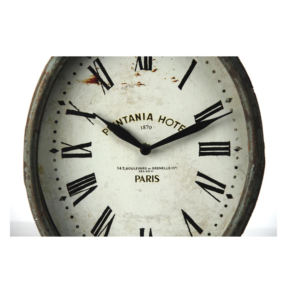 french country rustic hotel collection iron wall clock