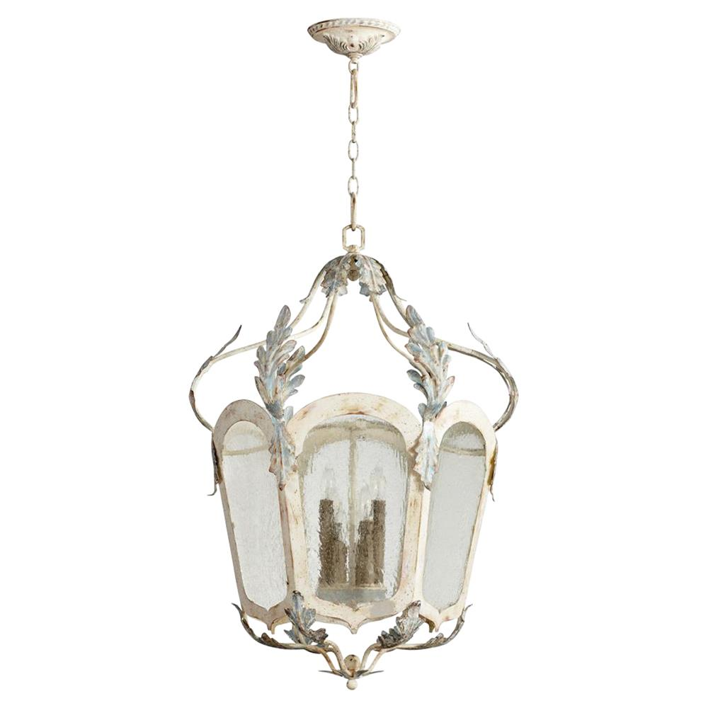 Chantilly French Country Parisian Blue White 6 Light