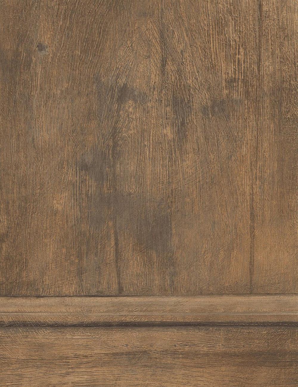 Traditional aged wood panel wallpaper light oak kathy