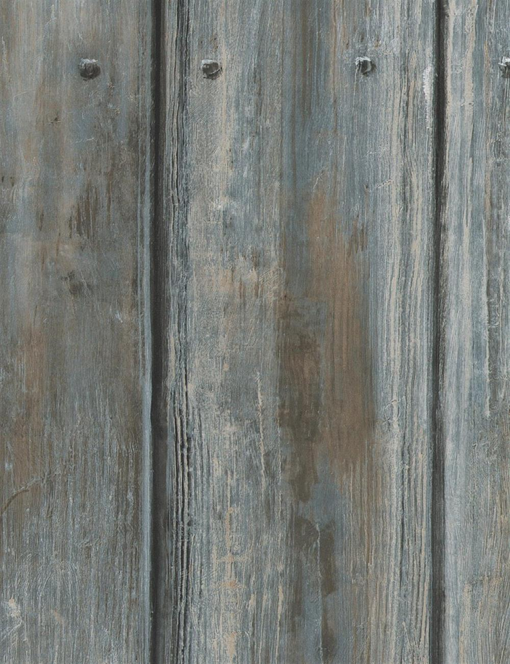 Rustic Lodge Timber Panel Wallpaper