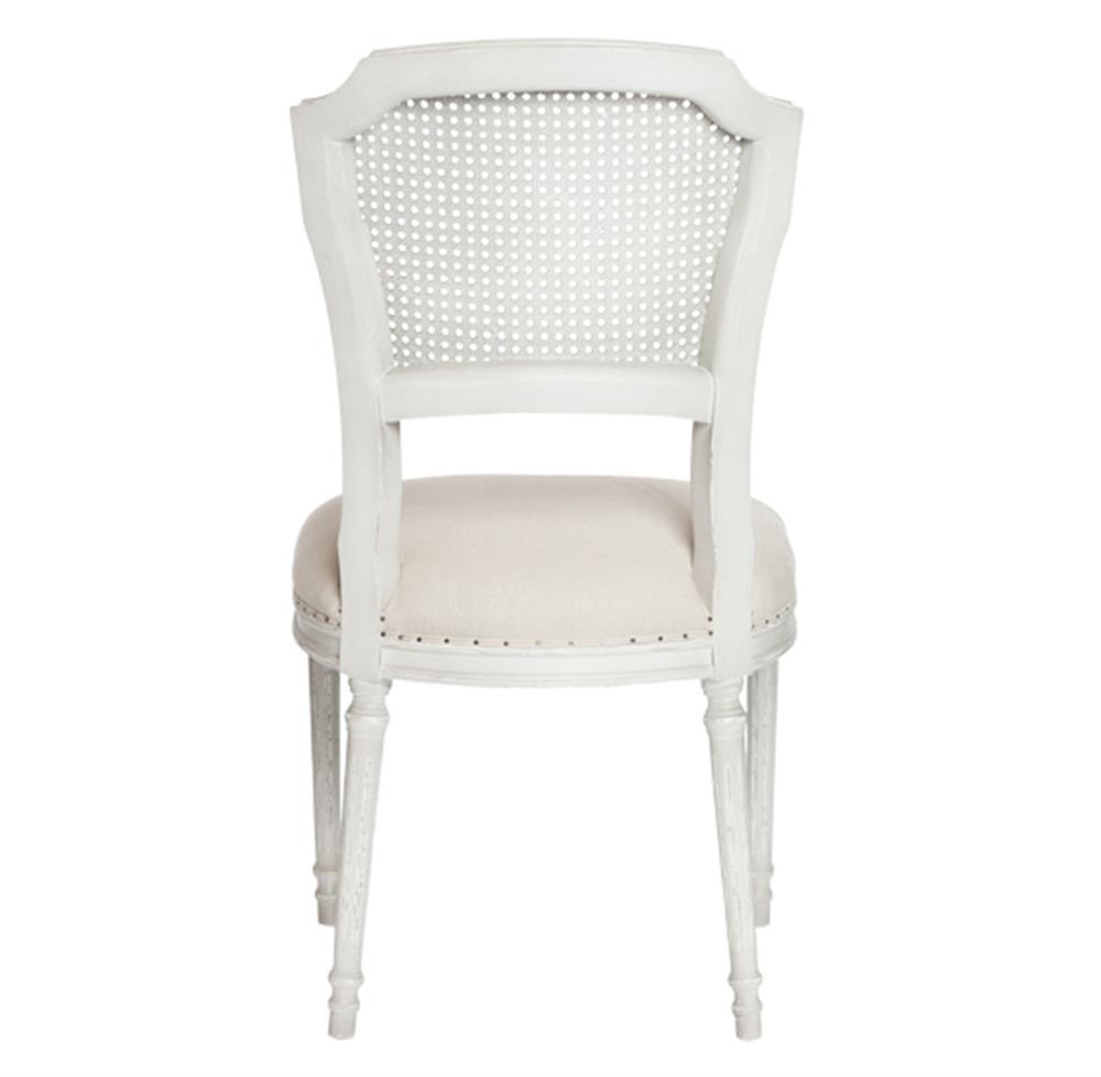 Shabby chic dining chairs - Pair Camilla French Country White Wash Shabby Chic Dining Chair Kathy Kuo Home