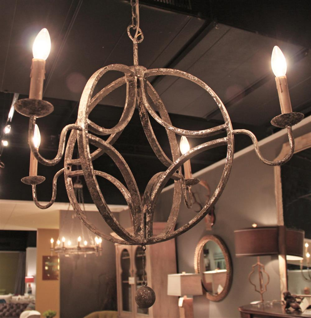 Winthrop french country interlocking circle rustic chandelier aloadofball Gallery