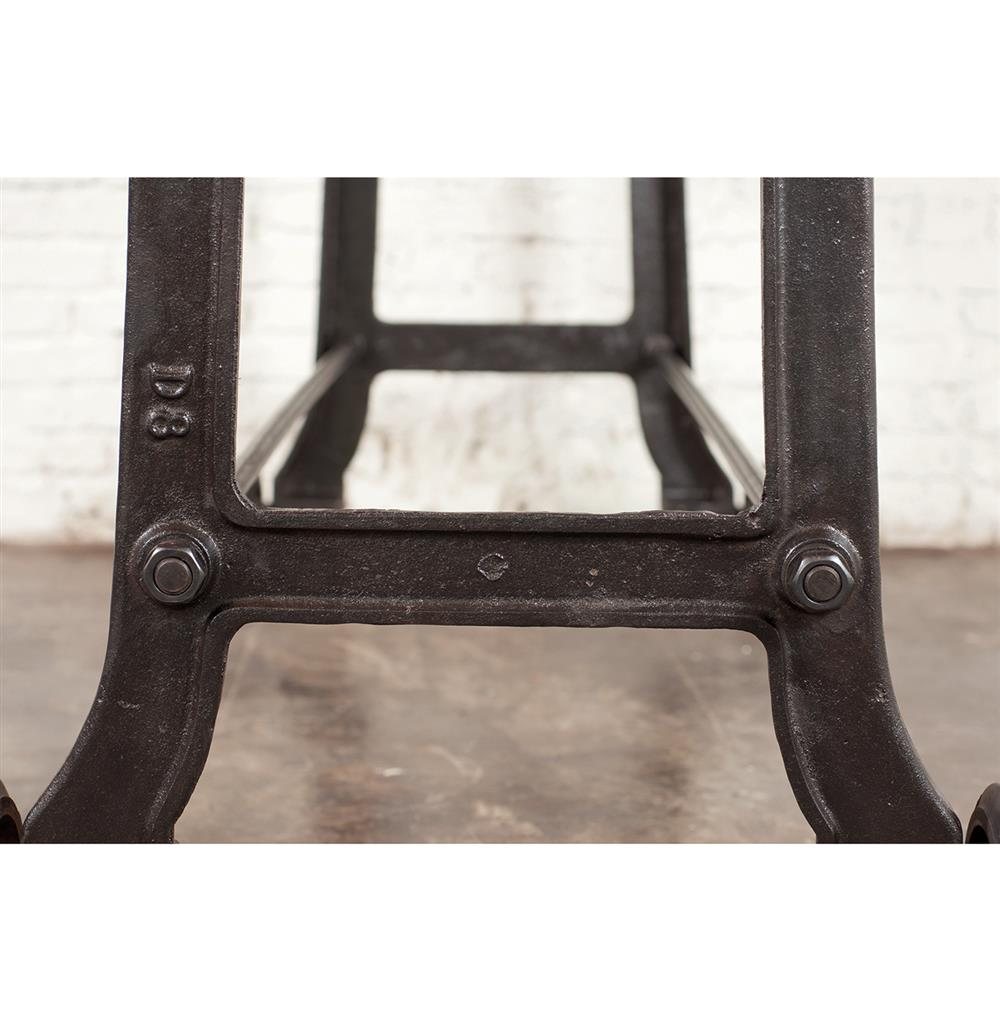 Brooklyn industrial reclaimed wood cast iron console bar table full size geotapseo Choice Image