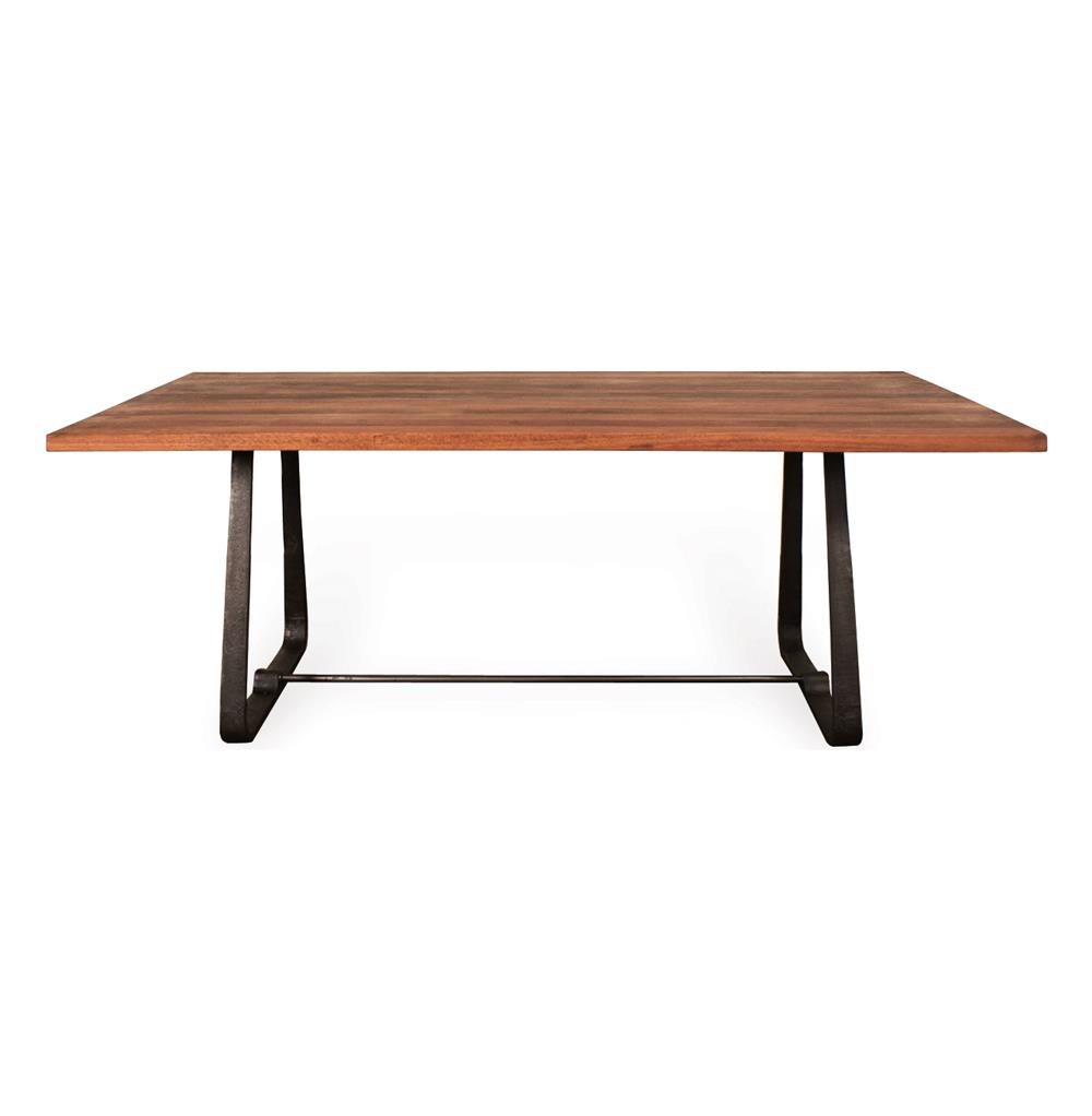 Westin industrial reclaimed wood modern dining table for Hardwood dining table