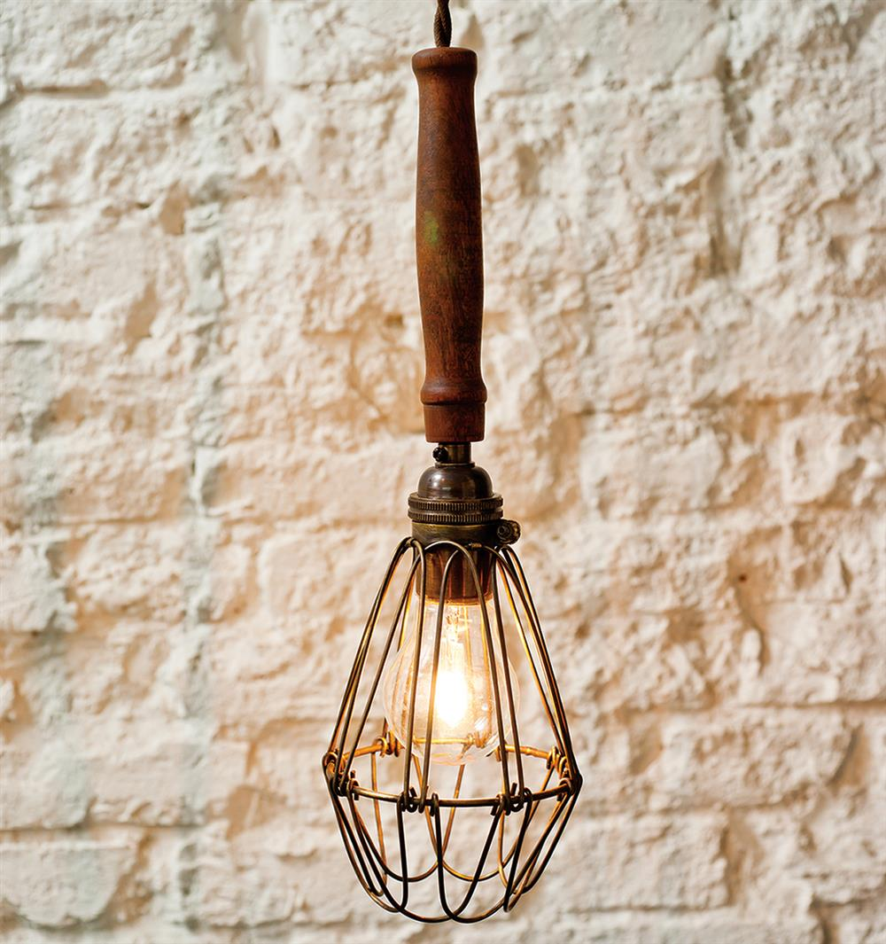 Finley Vintage Industrial Cage Wire Shade Pendant Lamp