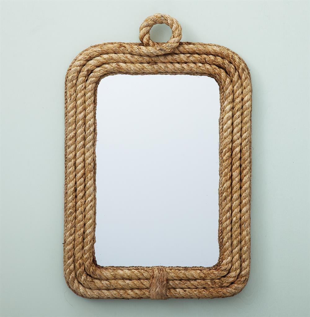 Clippers Bay Nautical Raw Jute Rope Wall Mirror Kathy