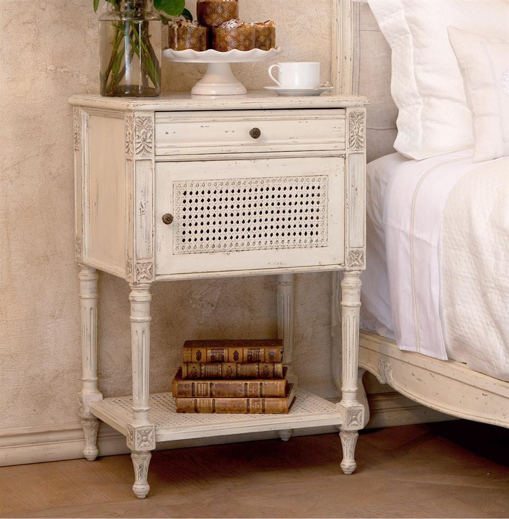 Giverny French Country Louis XVI Old Cream Caned