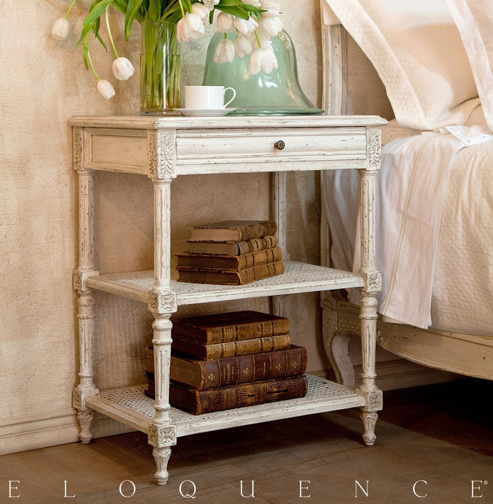 Eloquence Napoleon Nightstand In Antique White Kathy Kuo
