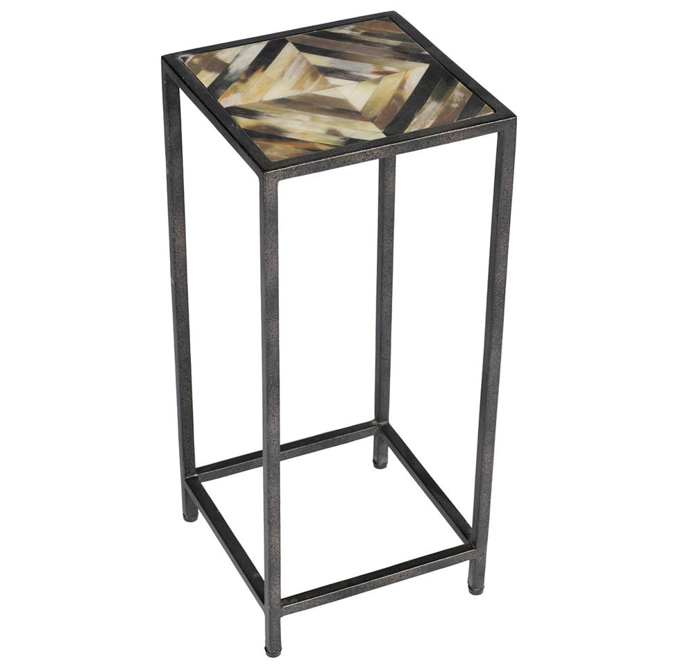 Tall carved eastlake rolling side table accent tables for Tall thin end tables