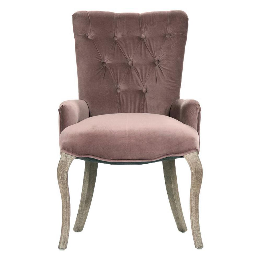 Dining Arm Chairs iris tufted mink velvet dining arm chair | kathy kuo home
