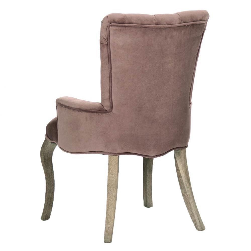 Iris Tufted Mink Velvet Dining Arm Chair Kathy Kuo Home : product58482 from www.kathykuohome.com size 1000 x 1000 jpeg 55kB