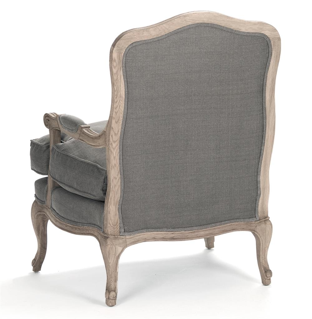 french country bastille dark grey linen salon armchair kathy kuo home