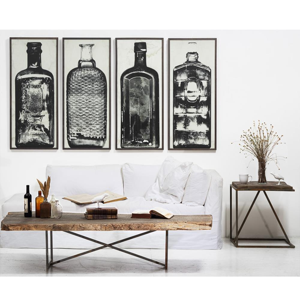Wall Decor For Black Wall : Copper river industrial loft bottle black white photo wall