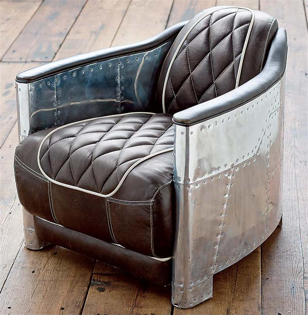 Loft aluminum espresso black leather arm chair kathy kuo home