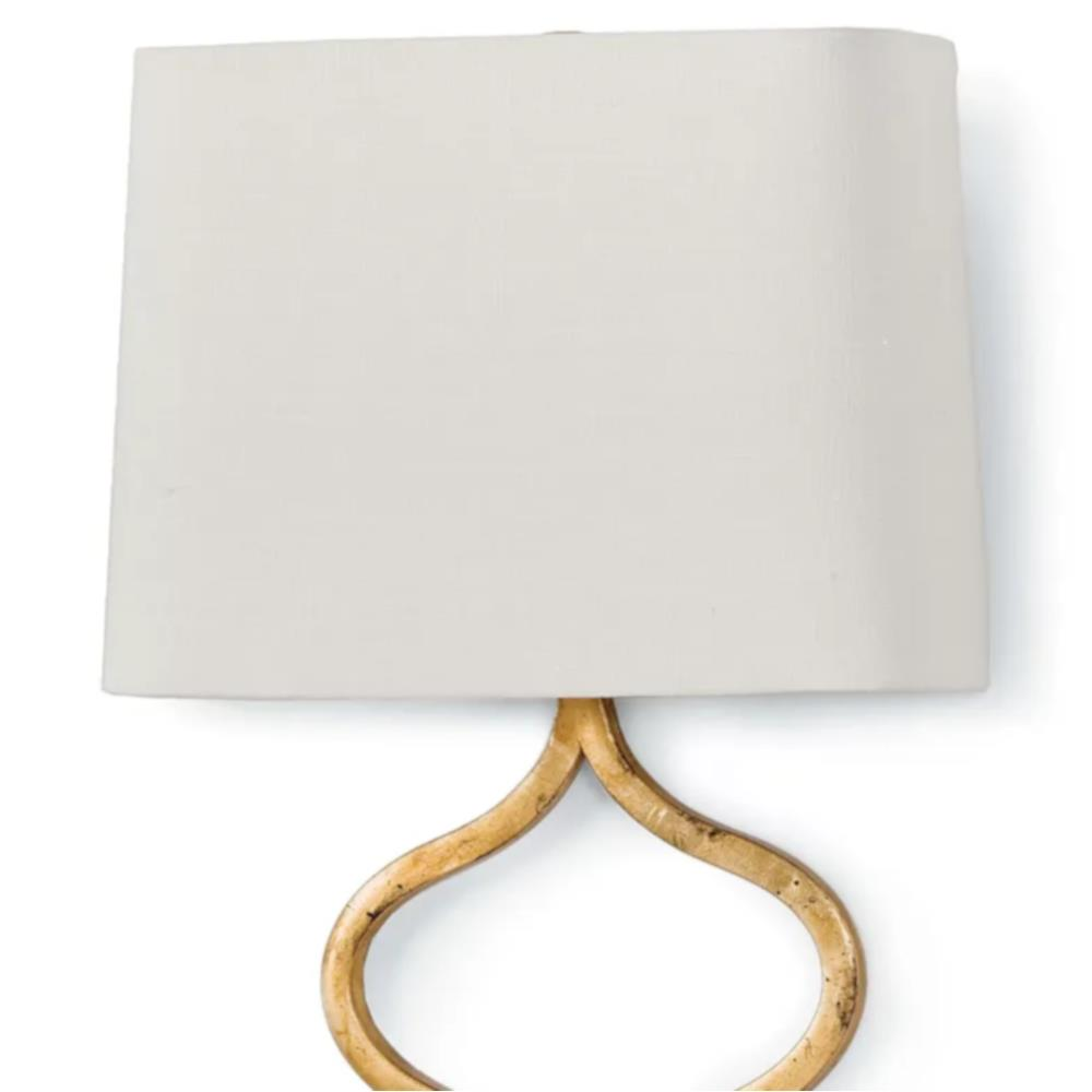 Rose Gold Wall Lamps : Havilland Hollywood Regency Gold Leaf Sinuous Metal Sconce Kathy Kuo Home