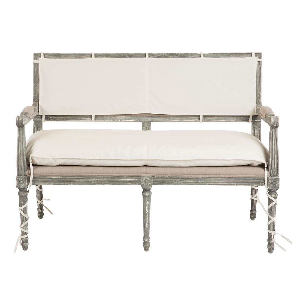 Liam French Country Wrapped Leg 2 Seat Bench Kathy Kuo Home