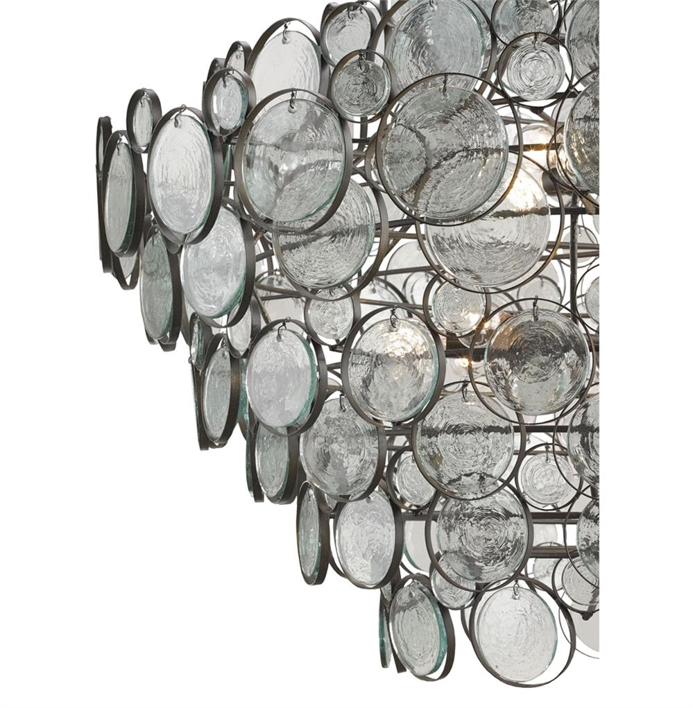 Iona coastal style recycled glass medallion iron 12 light chandelier view full size aloadofball Gallery