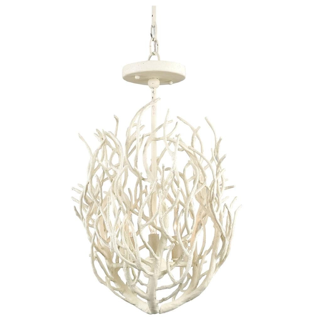 Delray white coral coastal beach style 3 light chandelier kathy view full size mozeypictures Image collections