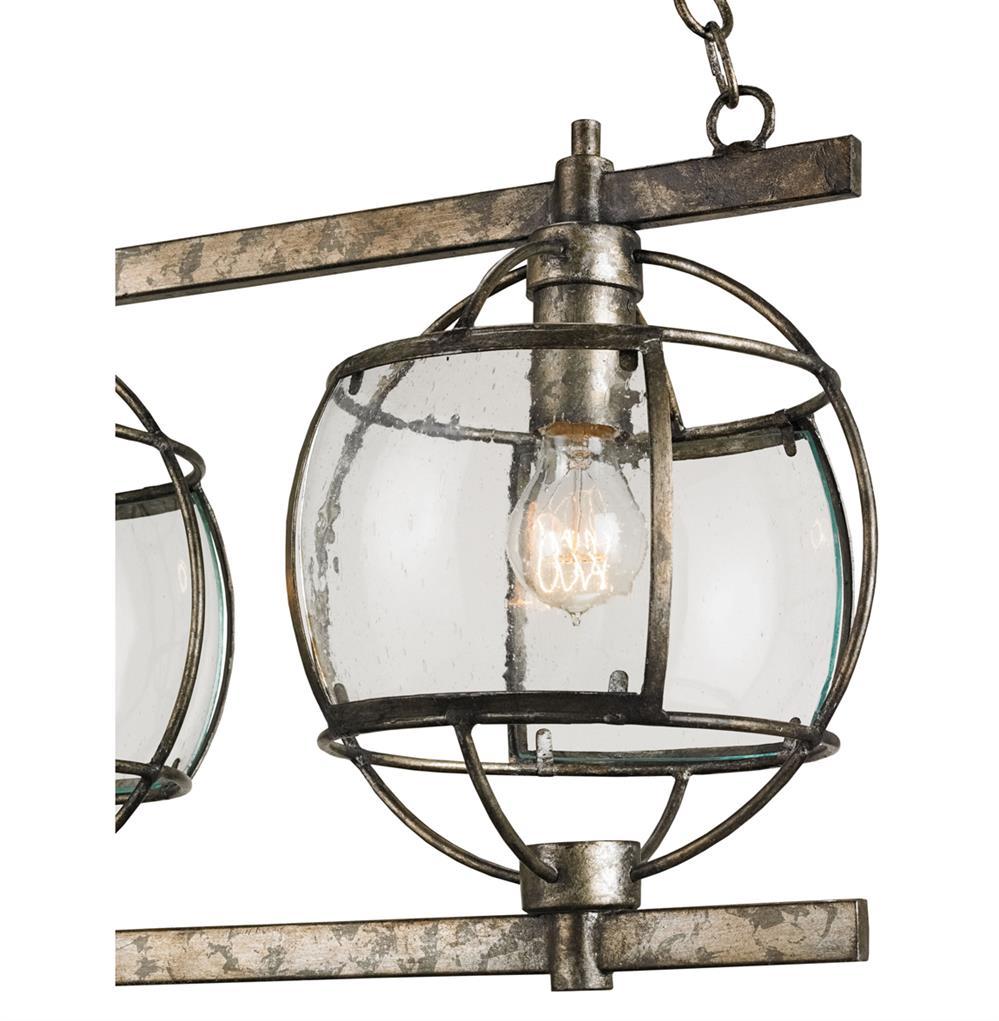 Brompton Industrial Loft Bronze Iron Glass 3 Light Island