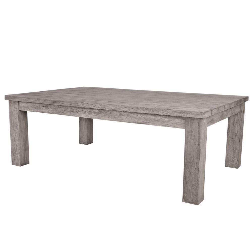 Kingsley Bate Tuscany Modern Grey Teak Rectangular Outdoor ...