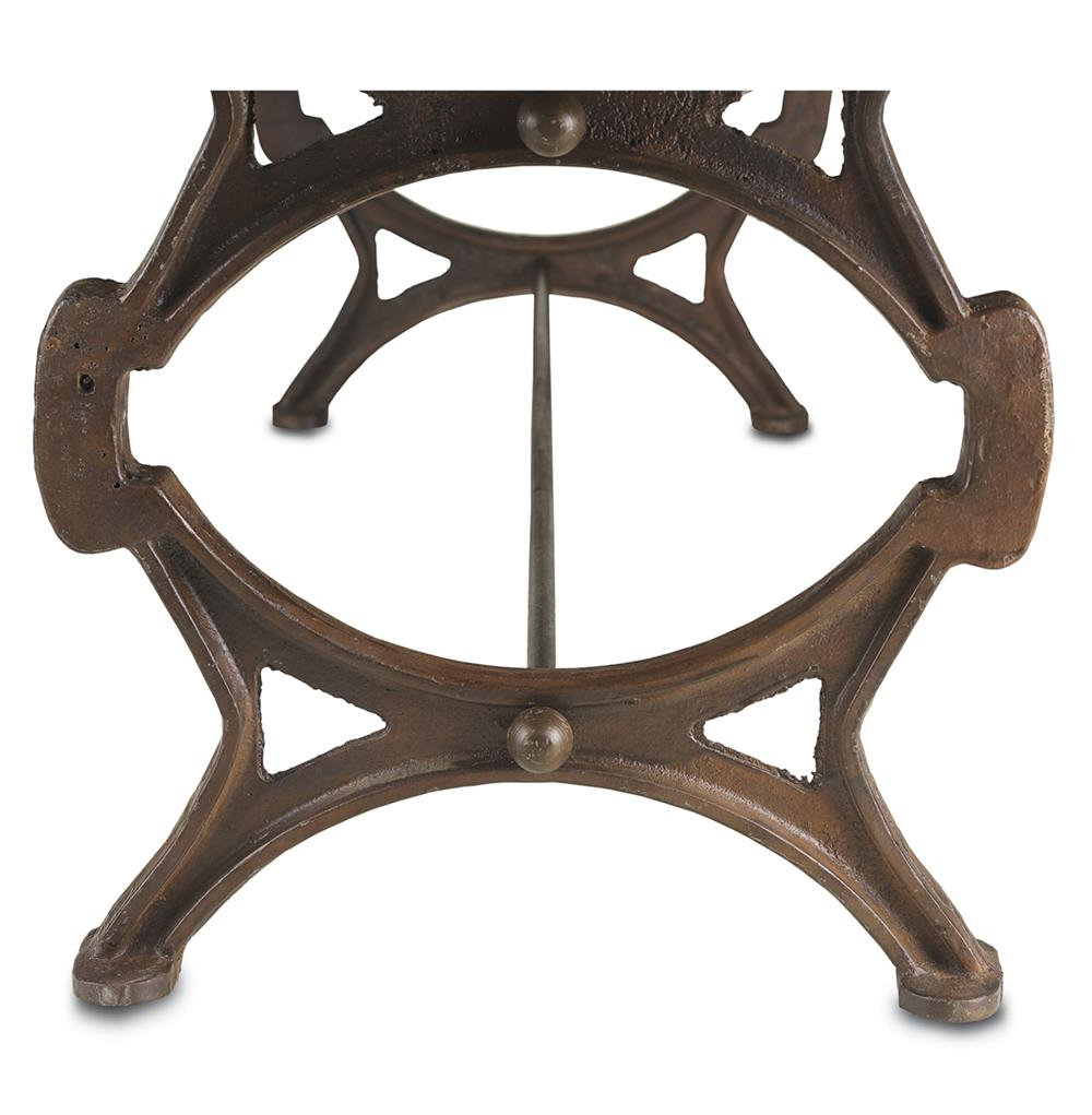 Kastholm industrial loft style cast iron reclaimed wood for Cast iron dining table