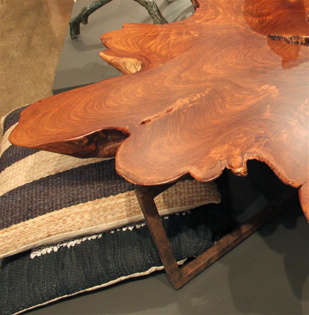 Interlude Tectona Rustic Lodge Teak Root Iron Abstract