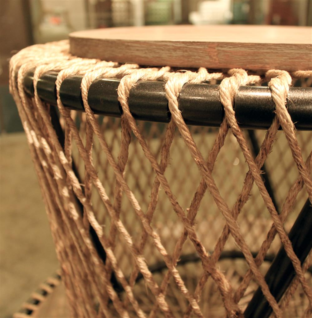 Saranda Beach Style Wood Rope Round End Side Table | Kathy Kuo Home. View  Full Size ...