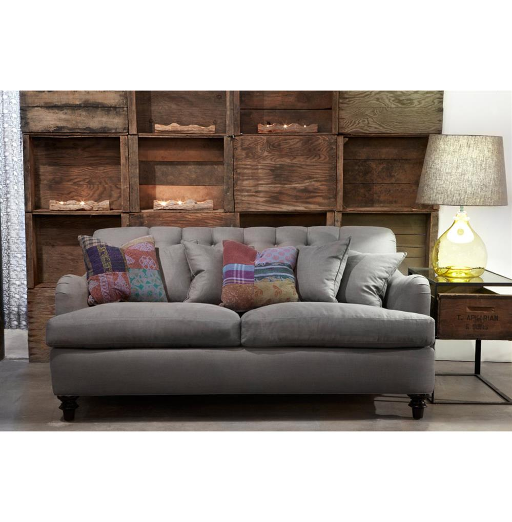 Clarence Rolled Arm English Feather Down Tufted Dark Grey Condo ...